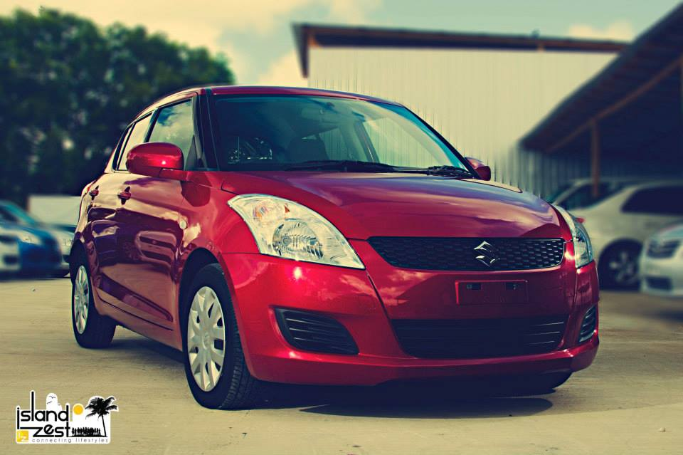 red suzuki swift pioneer motors photoshoot